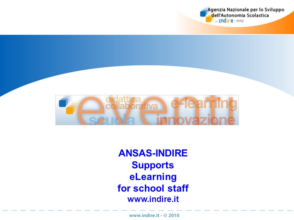 ANSAS-INDIRE Supports eLearning for school staff