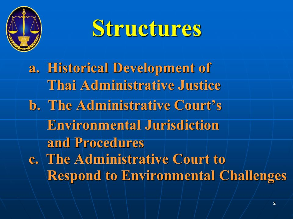 Structures a. Historical Development of Thai Administrative Justice b.