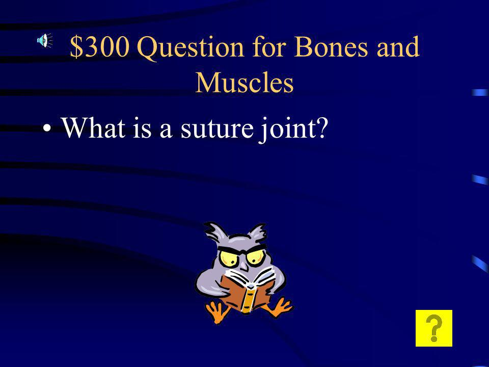 $200 Answer for Bones and Muscles Long bone…. Like the femur.