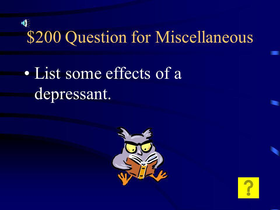 $100 Answer for Miscellaneous After some physical withdrawl issues the number of receptors will return to normal.