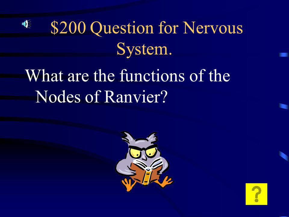 $100 Answer for Nervous System.