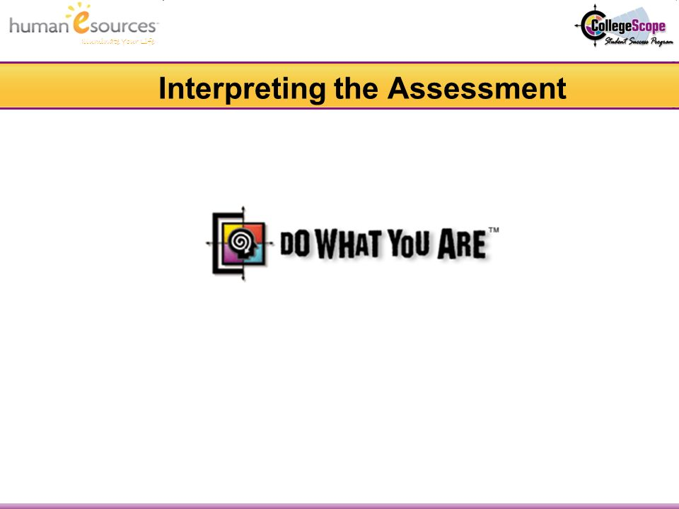 Illuminate Your Life Interpreting the Assessment
