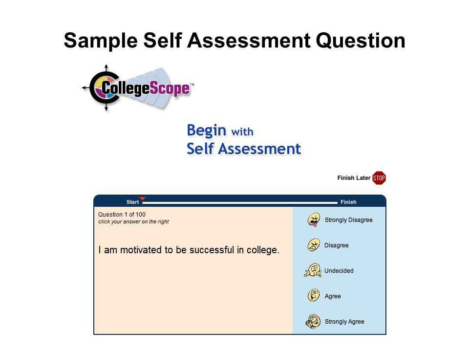 Sample Self Assessment Question