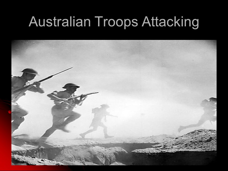 Australian Troops Attacking