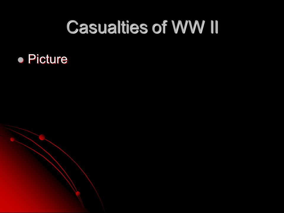 Casualties of WW II Picture Picture