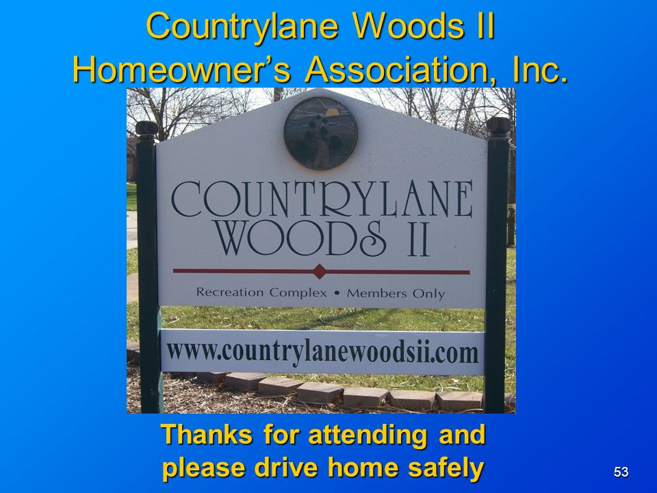 53 Countrylane Woods II Homeowners Association, Inc.