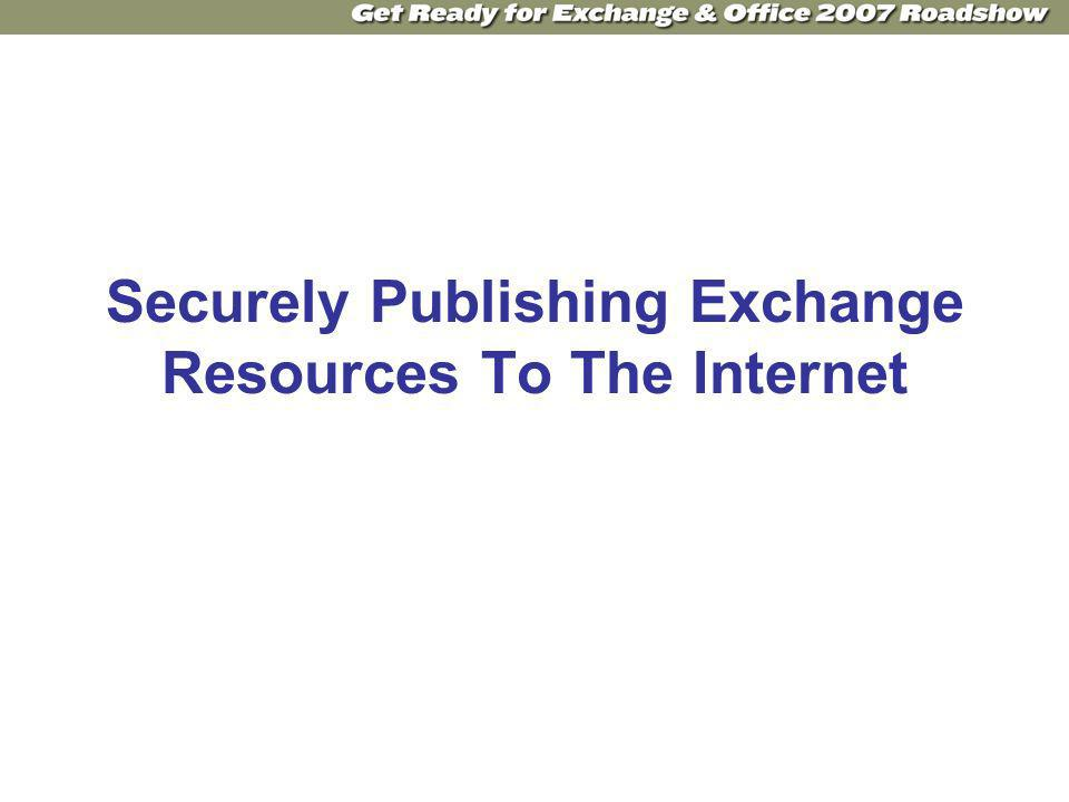 Securely Publishing Exchange Resources To The Internet