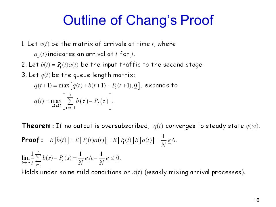 16 Outline of Changs Proof