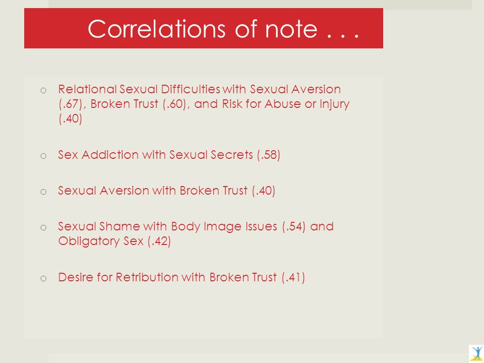 Correlations of note...