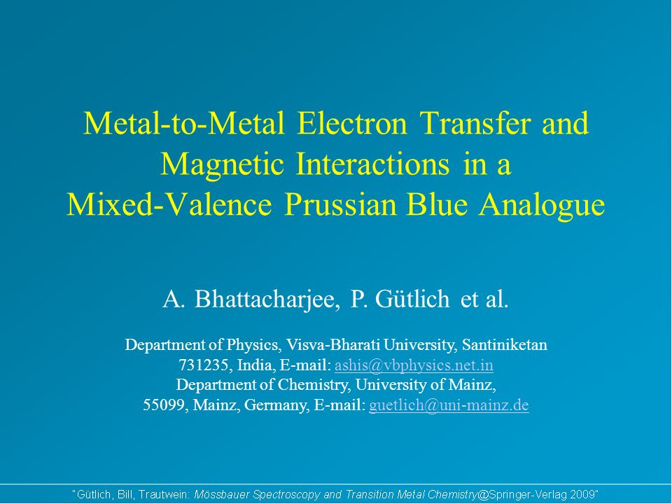 Metal-to-Metal Electron Transfer and Magnetic Interactions in a Mixed-Valence Prussian Blue Analogue A.