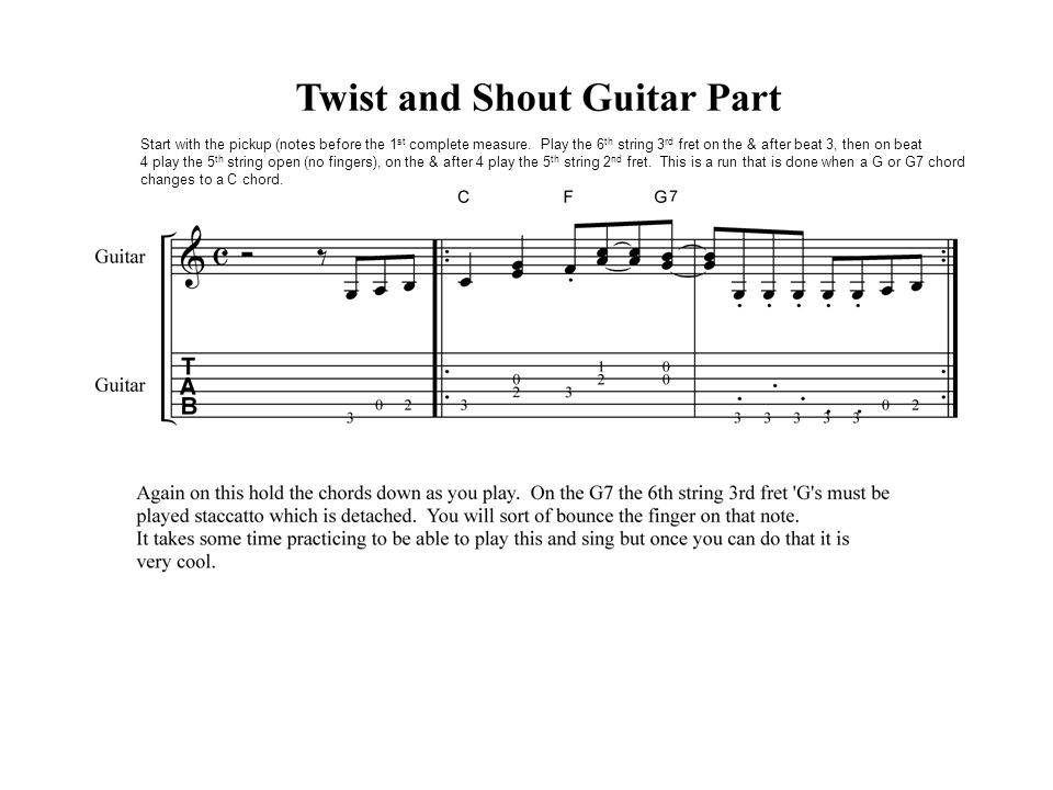 Class 12 Guitar I And Ii Blues Cont Review Arpeggio Fingerpicking