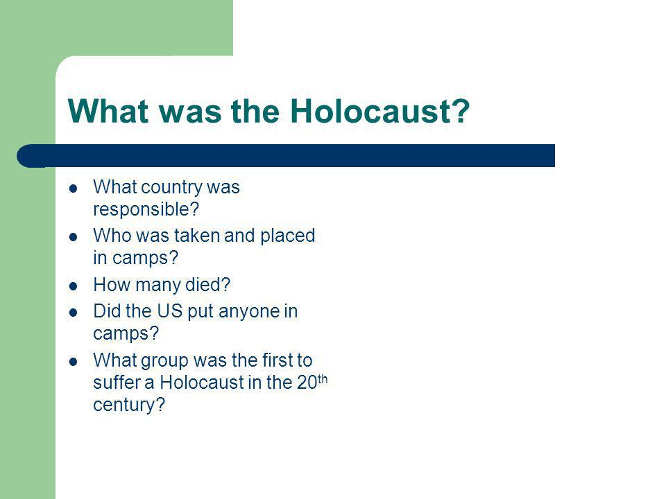 What was the Holocaust. What country was responsible.
