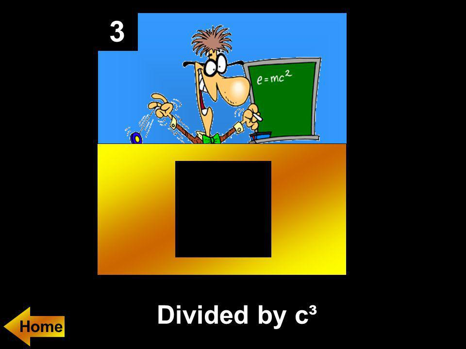 3 If y = kx³, and x is divided by c, then y is _________