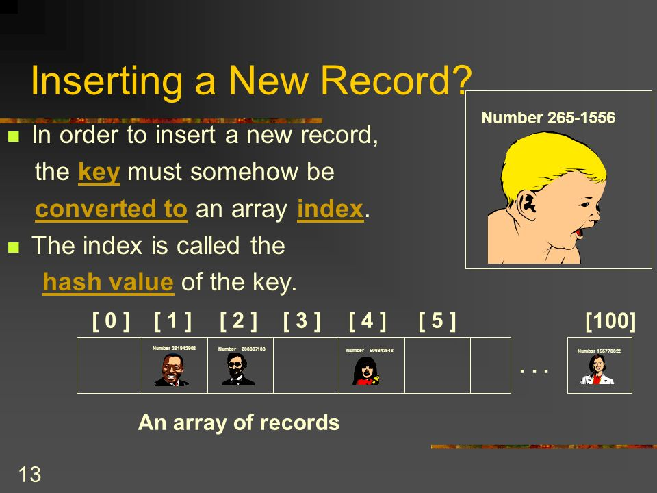 13 Inserting a New Record.