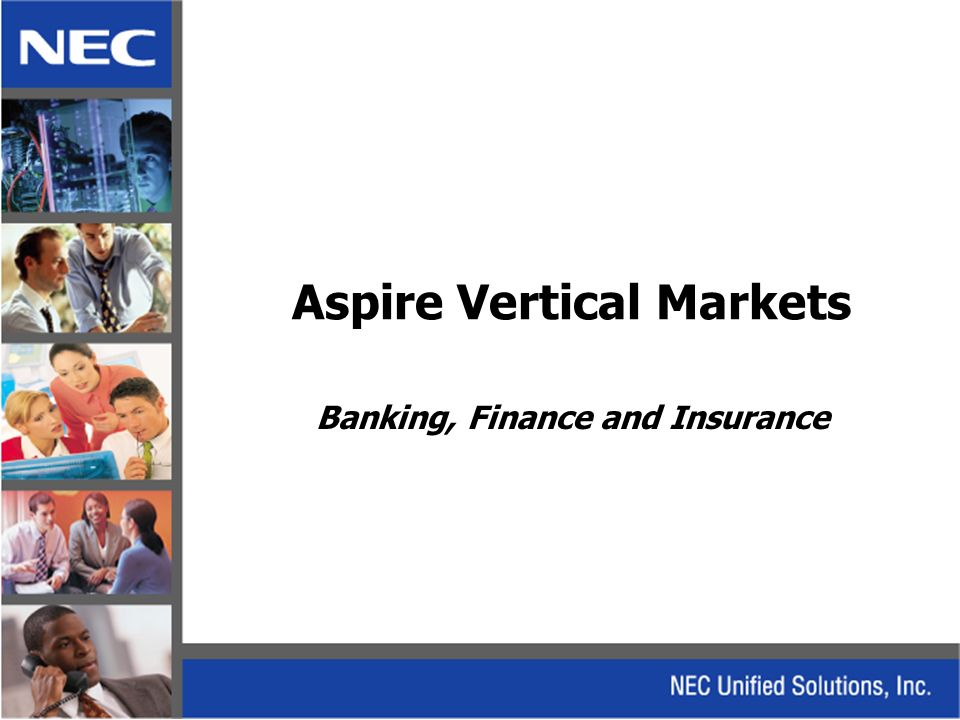 Aspire Vertical Markets Banking, Finance and Insurance