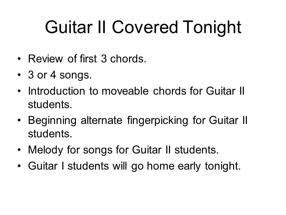 Guitar II Covered Tonight Review of first 3 chords.