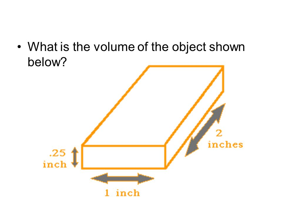 What is the volume of the object shown below