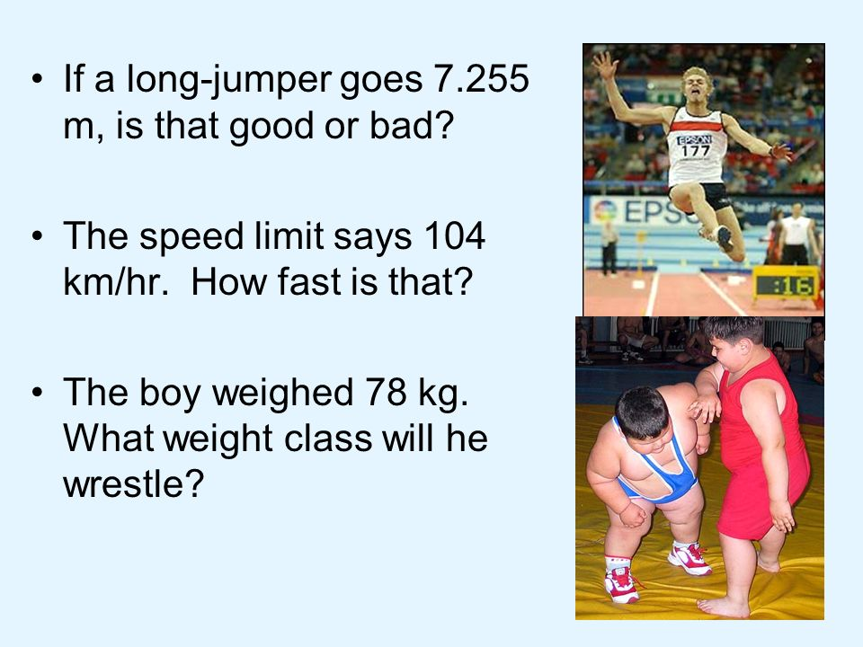If a long-jumper goes m, is that good or bad.