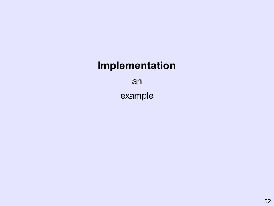Implementation an example 52