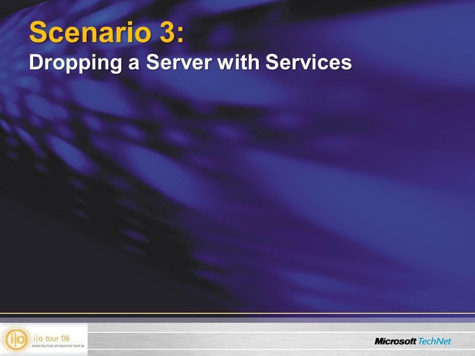 Scenario 3: Dropping a Server with Services
