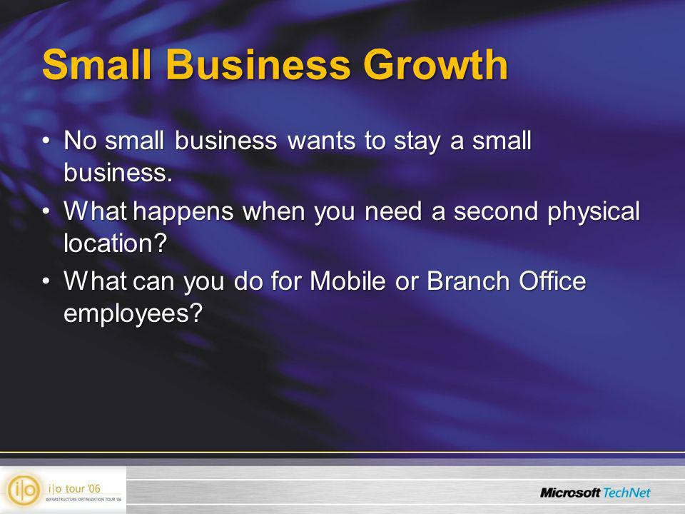 Small Business Growth No small business wants to stay a small business.No small business wants to stay a small business.