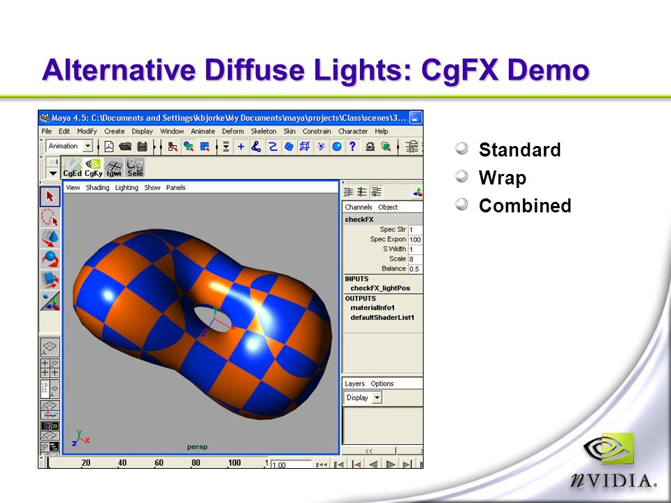 Alternative Diffuse Lights: CgFX Demo Standard Wrap Combined