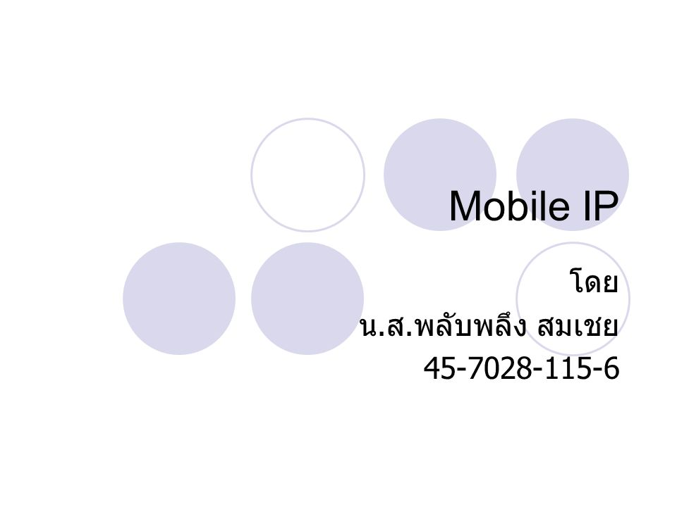 Mobile IP.. 45-7028-115-6