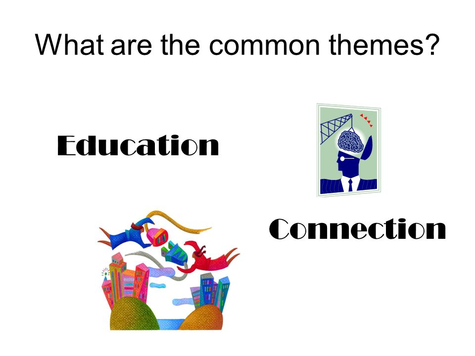 What are the common themes Education Connection