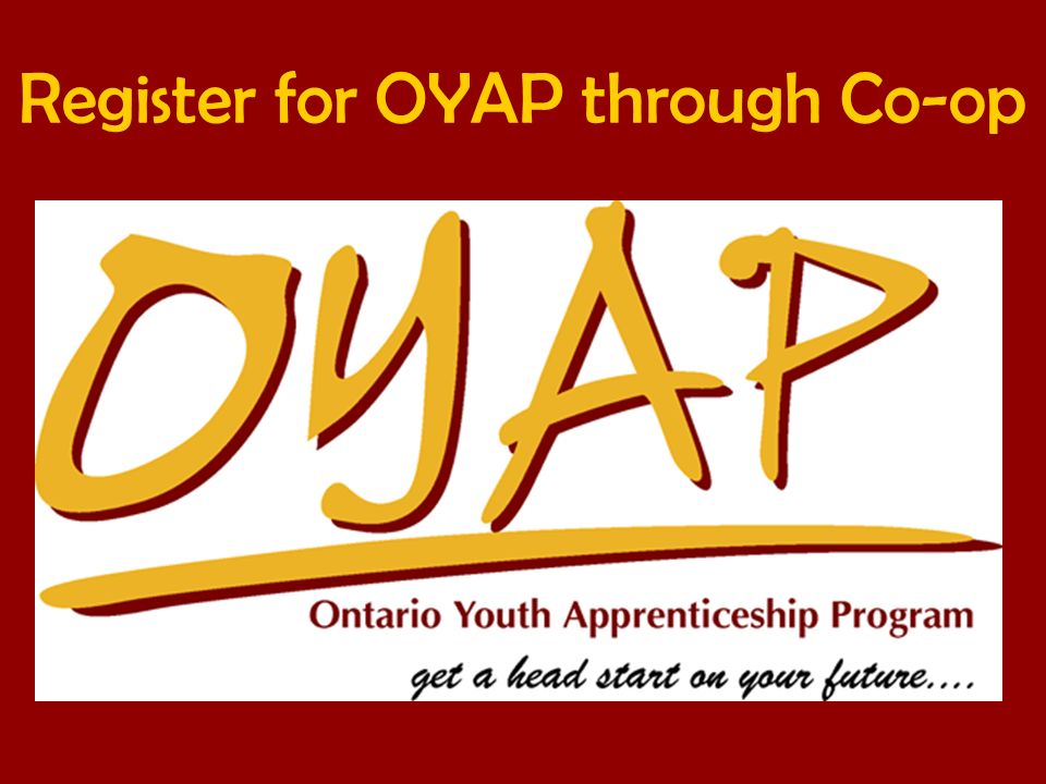 Register for OYAP through Co-op