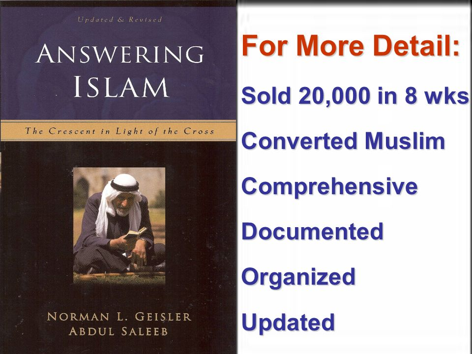 Many Muslims For More Detail: Sold 20,000 in 8 wks Converted Muslim ComprehensiveDocumentedOrganizedUpdated