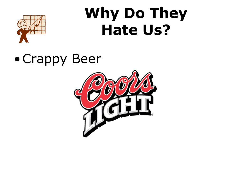 Crappy Beer Why Do They Hate Us