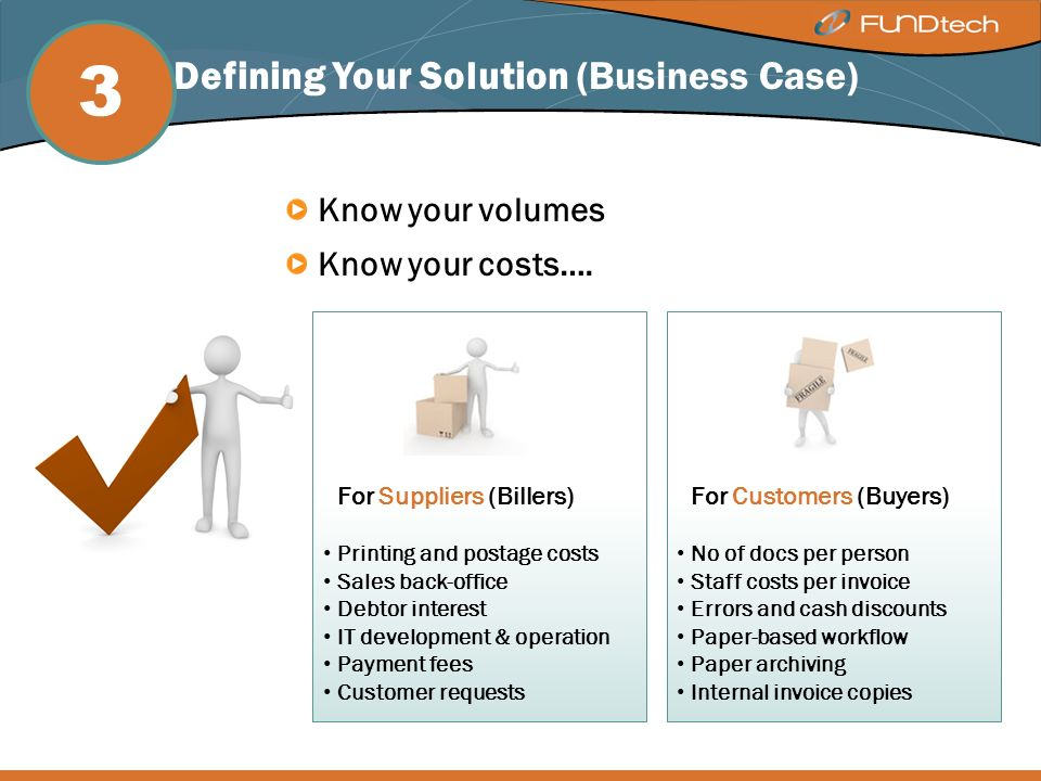 Step 3: Defining Your Solution (Business Case) Know your volumes Know your costs….