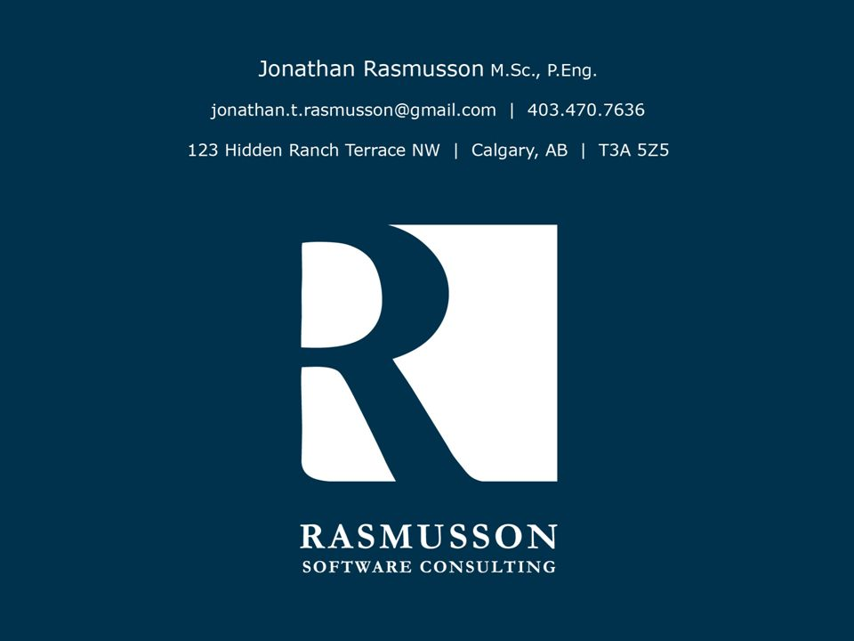 © 2008, Rasmusson Software Consulting, All rights reserved