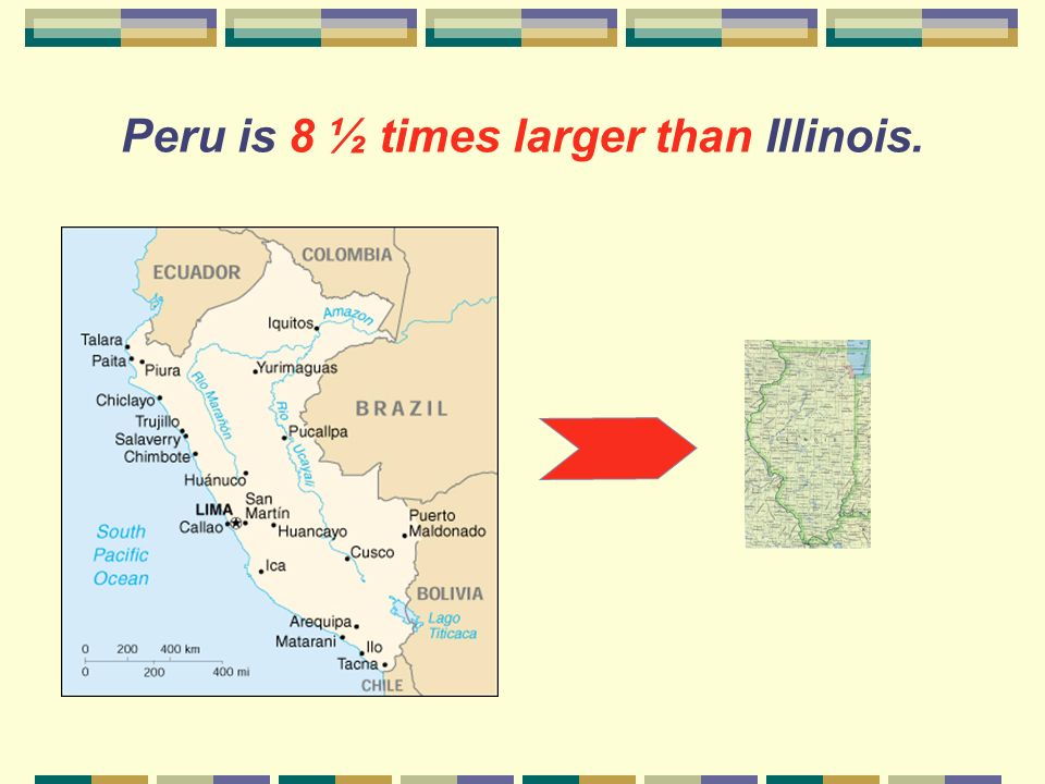 How large is Peru compared to Illinois