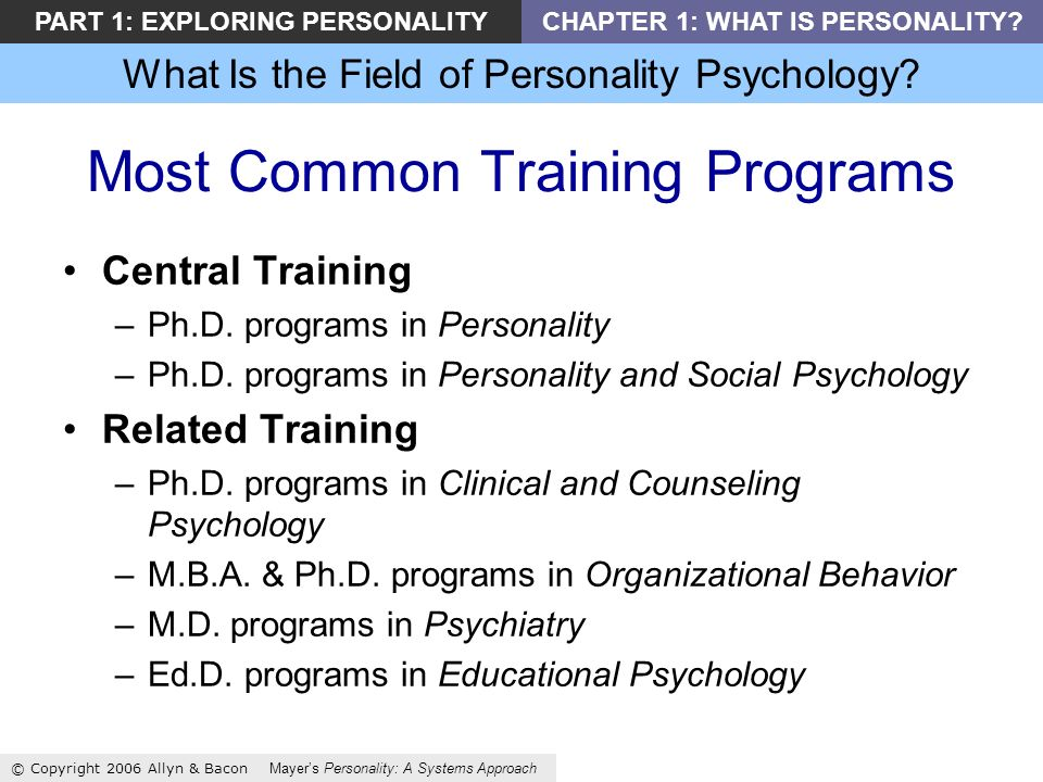 What Is the Field of Personality Psychology.