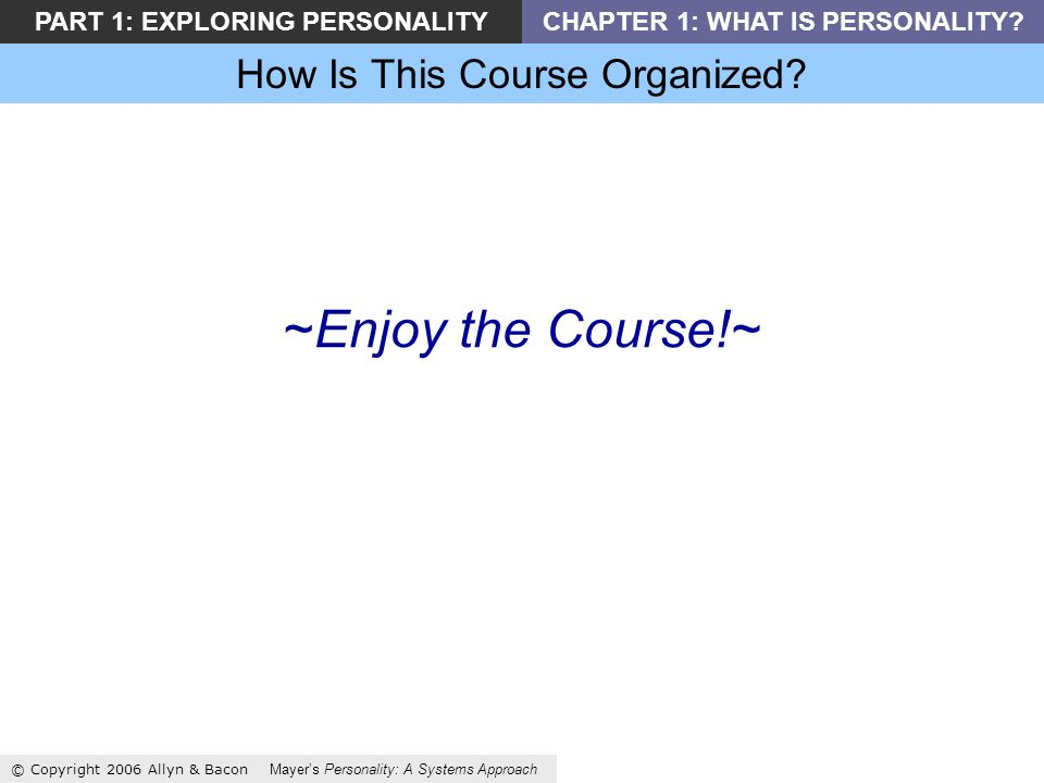 How Is This Course Organized.