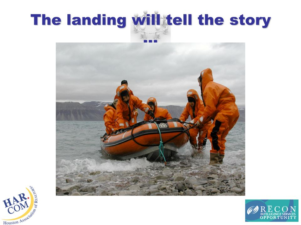 The landing will tell the story …