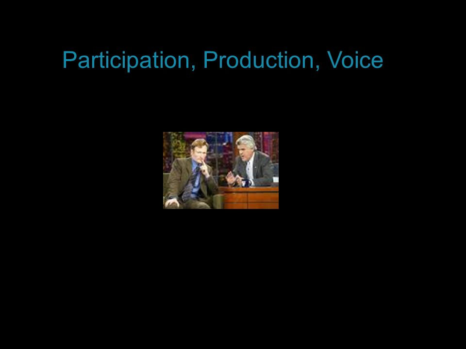 Participation, Production, Voice