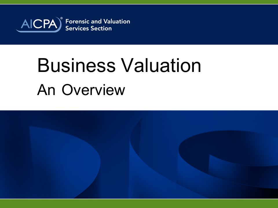 Business Valuation An Overview