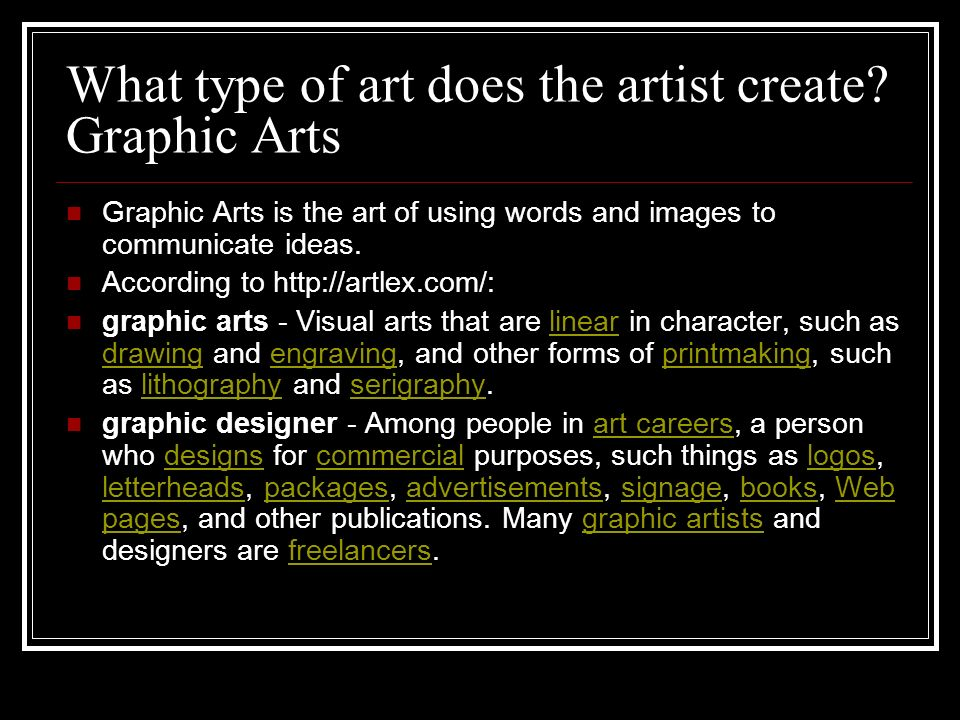 What type of art does the artist create.