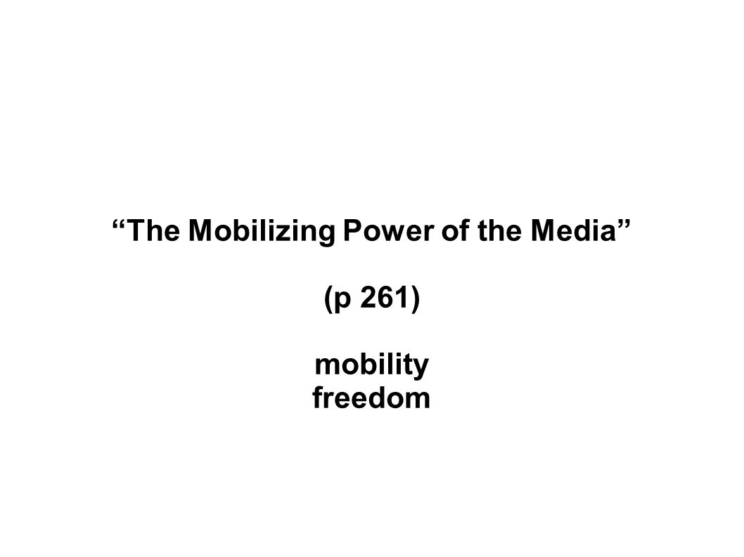 (p 261) mobility freedom