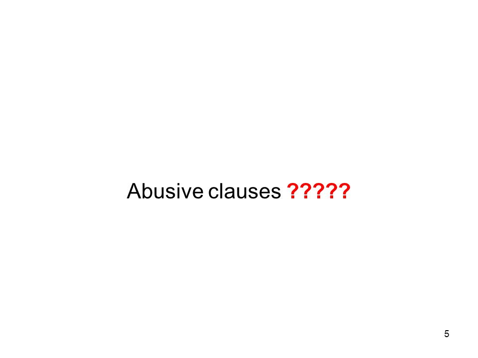 5 Abusive clauses