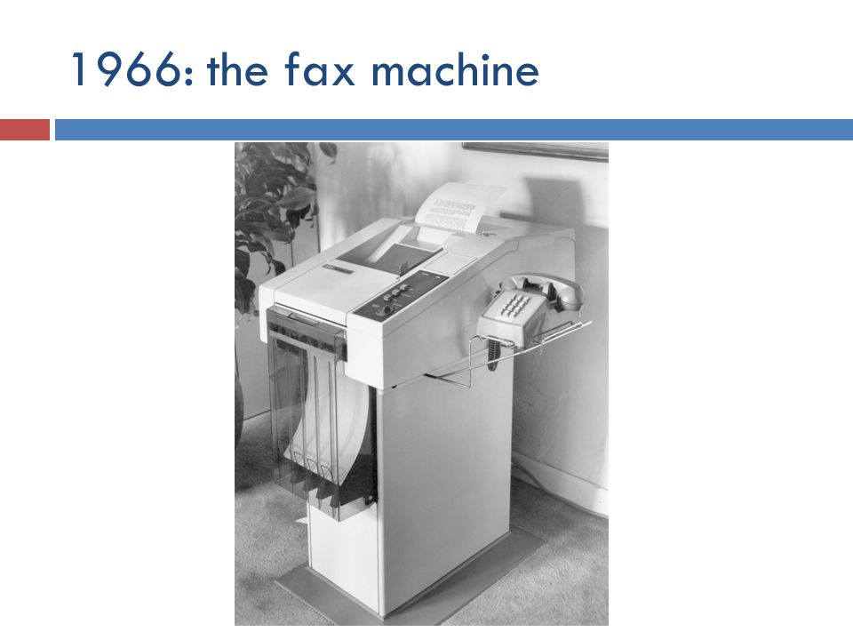 1966: the fax machine