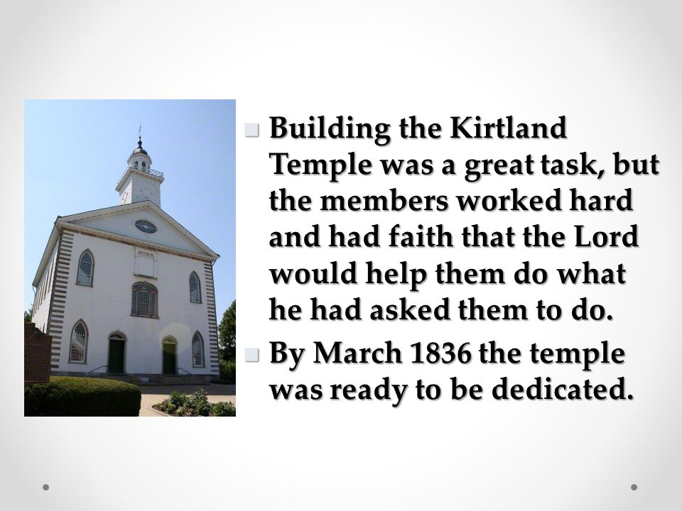 The Lord commanded the Saints to build the Kirtland Temple because he needed a place where he and other heavenly messengers could come to restore essential keys of the priesthood.