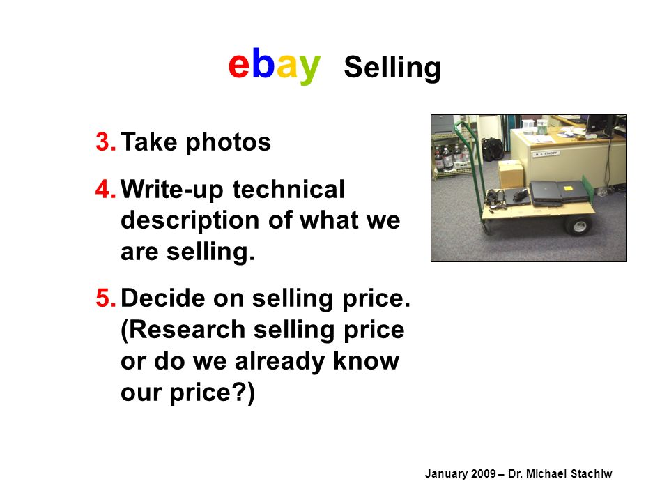 ebay Selling January 2009 – Dr.