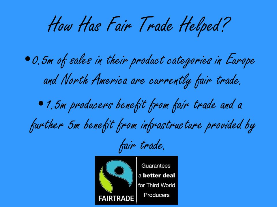 How Has Fair Trade Helped.