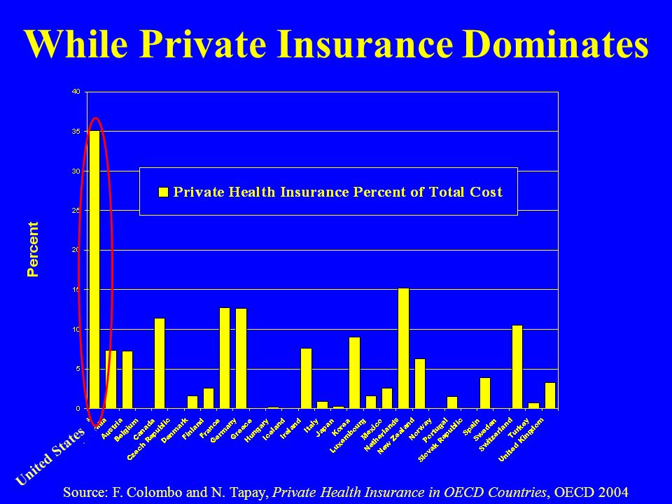 While Private Insurance Dominates Source: F. Colombo and N.