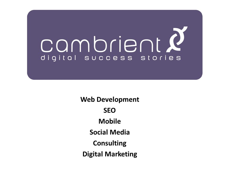 Web Development SEO Mobile Social Media Consulting Digital Marketing