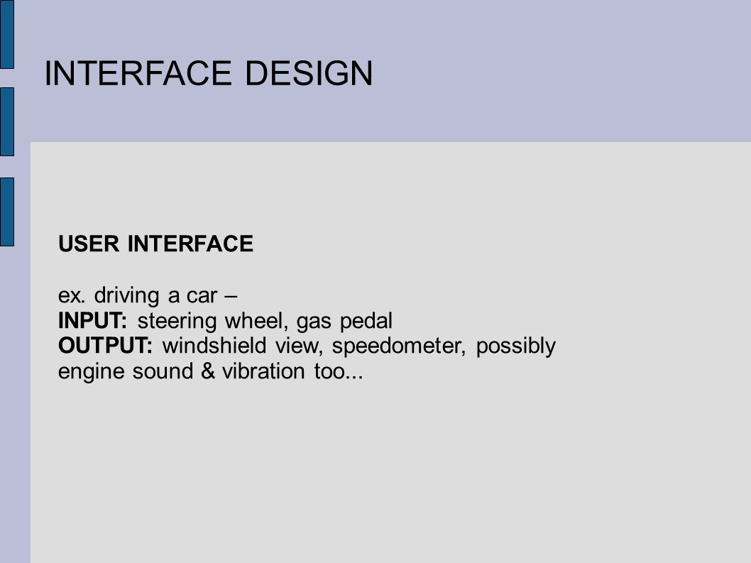 INTERFACE DESIGN USER INTERFACE ex.