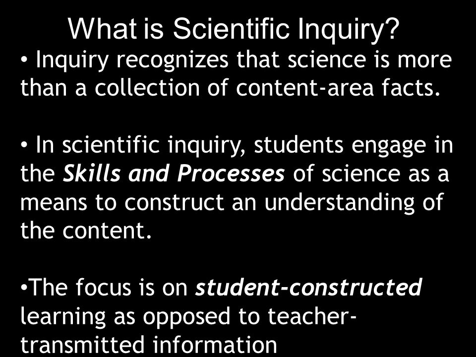 What is Scientific Inquiry.